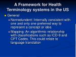a framework for health terminology systems in the us17