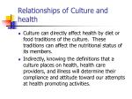 relationships of culture and health