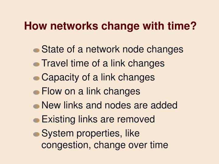 How networks change with time