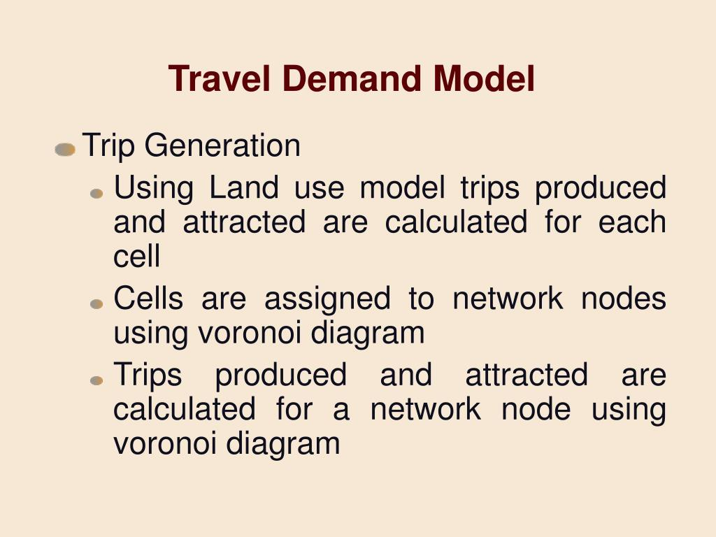 Travel Demand Model