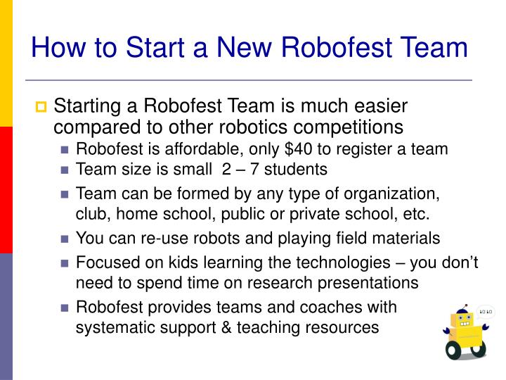 How to start a new robofest team2