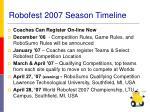 robofest 2007 season timeline