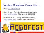 robofest questions contact us