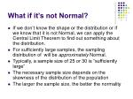 what if it s not normal