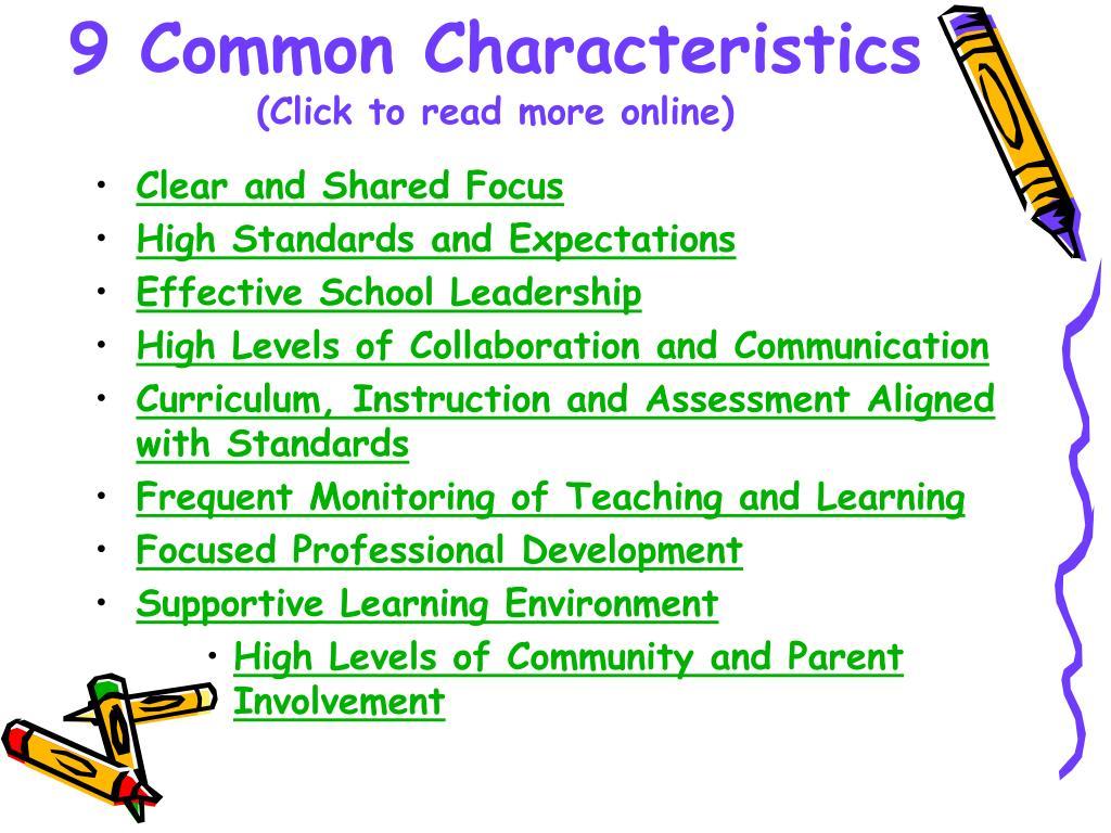 9 Common Characteristics