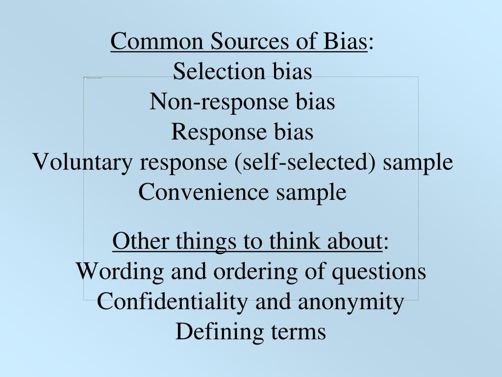 Common Sources of Bias