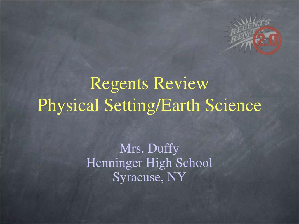regents review physical setting earth science l.