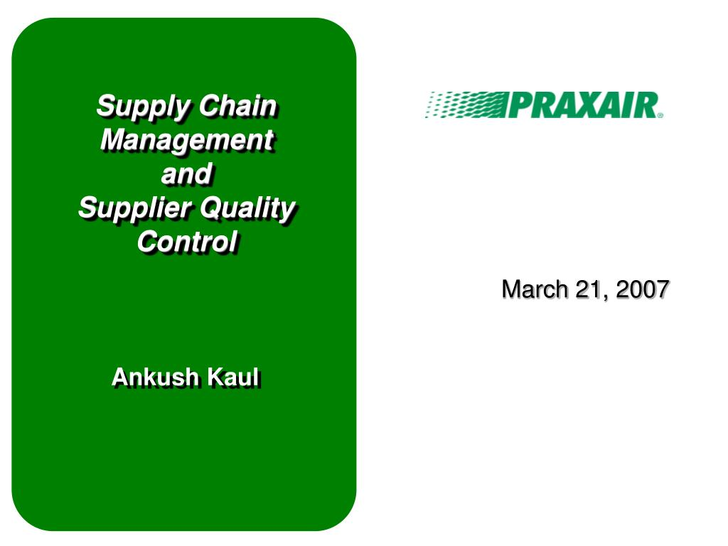 supply chain management statistical quality control Production and supply chain management ©2012 from a first course in quality engineering: integrating statistical control limits: x-bar & r-charts.