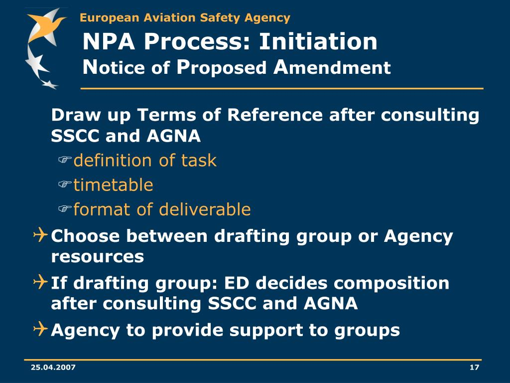 NPA Process: Initiation
