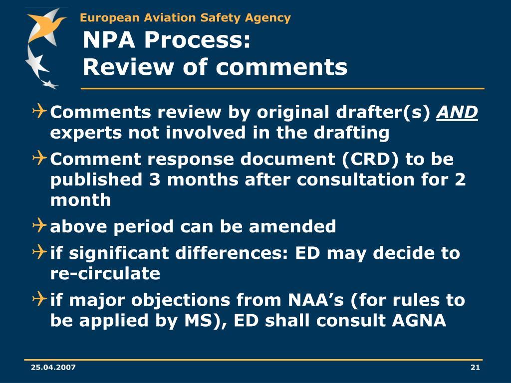 NPA Process: