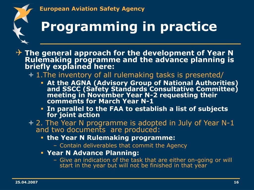 Programming in practice