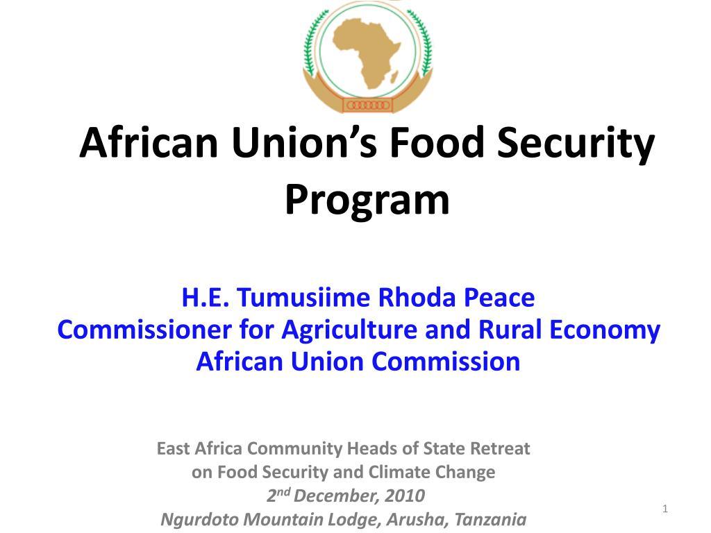 african union s food security program l.
