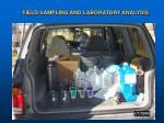 field sampling and laboratory analysis