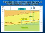 thermogenic gas from producing interval in piceance basin not close to surface