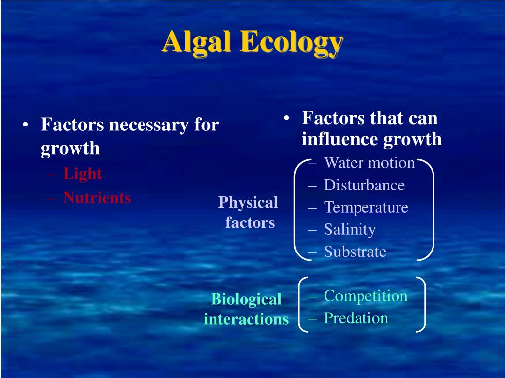 Factors necessary for growth