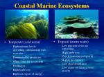 coastal marine ecosystems