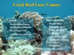coral reef loss causes