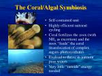 the coral algal symbiosis