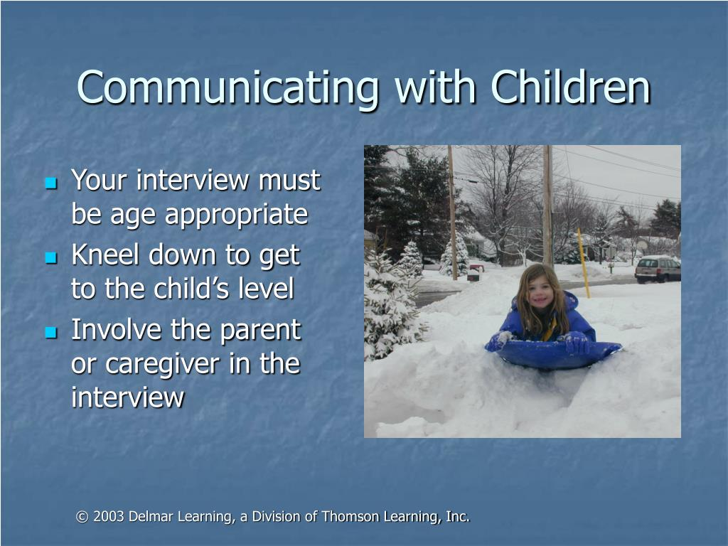 Communicating with Children