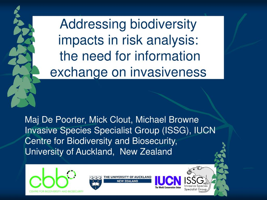 addressing biodiversity impacts in risk analysis the need for information exchange on invasiveness l.