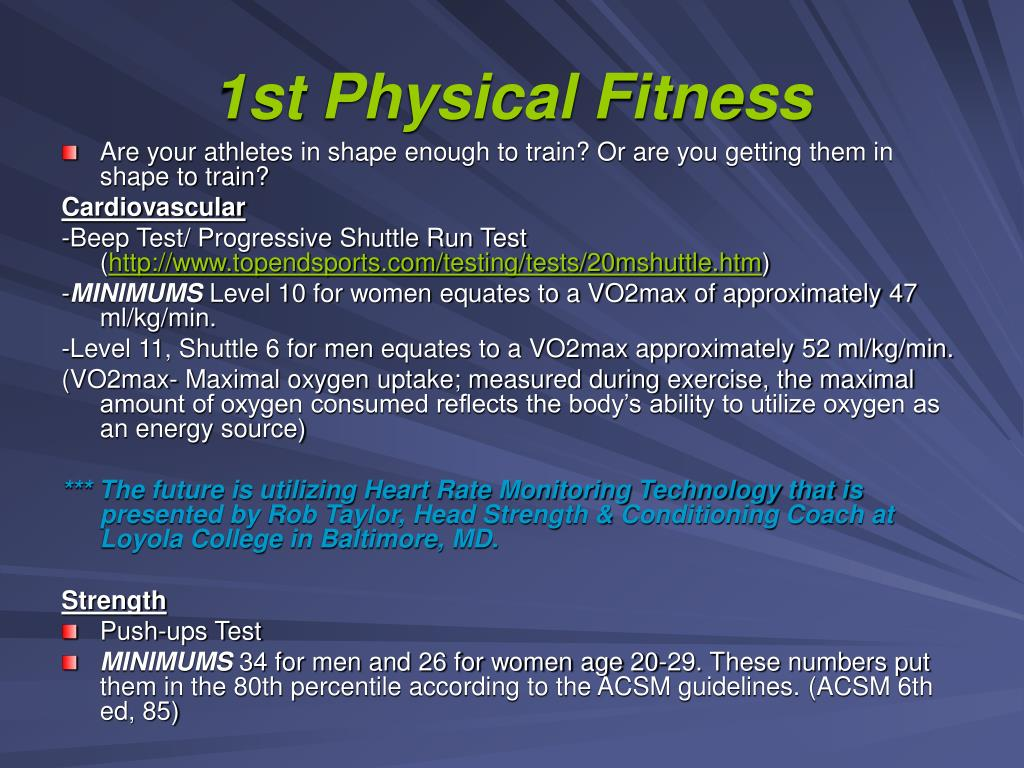 1st Physical Fitness