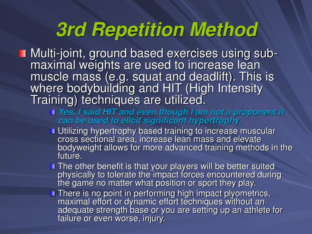 3rd Repetition Method