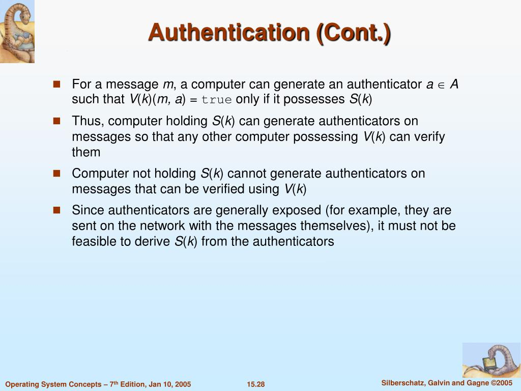 Authentication (Cont.)