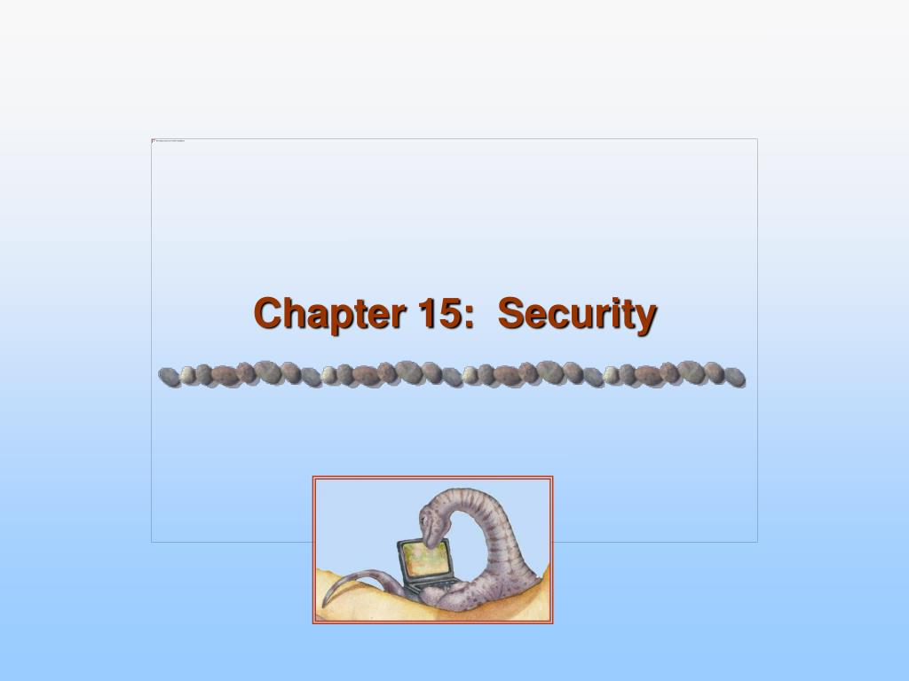 Chapter 15:  Security