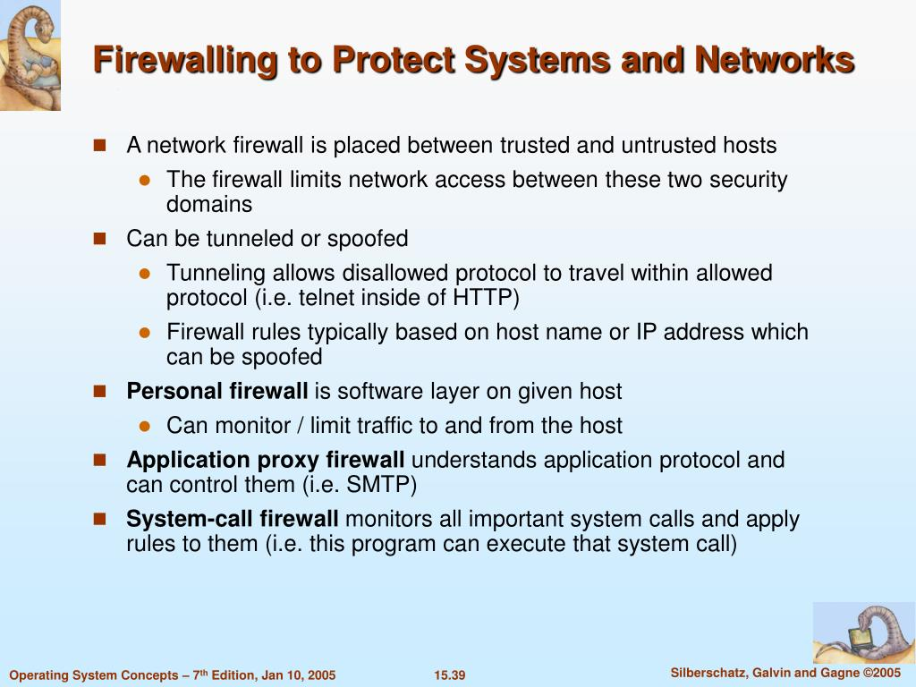 Firewalling to Protect Systems and Networks