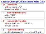 access change create delete meta data