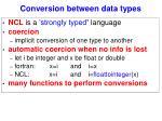 conversion between data types
