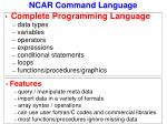 ncar command language