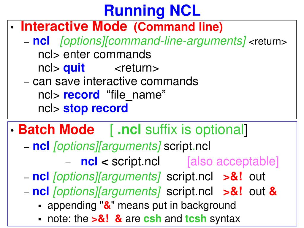PPT - NCL Introduction PowerPoint Presentation - ID:29405