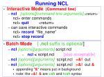 running ncl