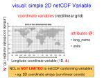 visual simple 2d netcdf variable