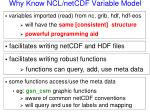 why know ncl netcdf variable model