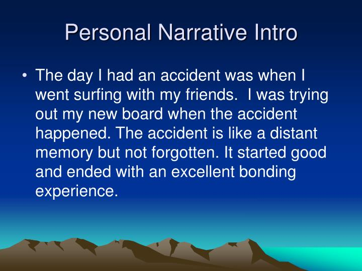 personal narrative the day i lost my Choose one of the story starters below for a personal narrative you could also use these ideas to help you brainstorm personal experiences that you think will interest readers.