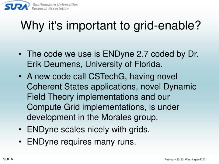 Why it's important to grid-enable?