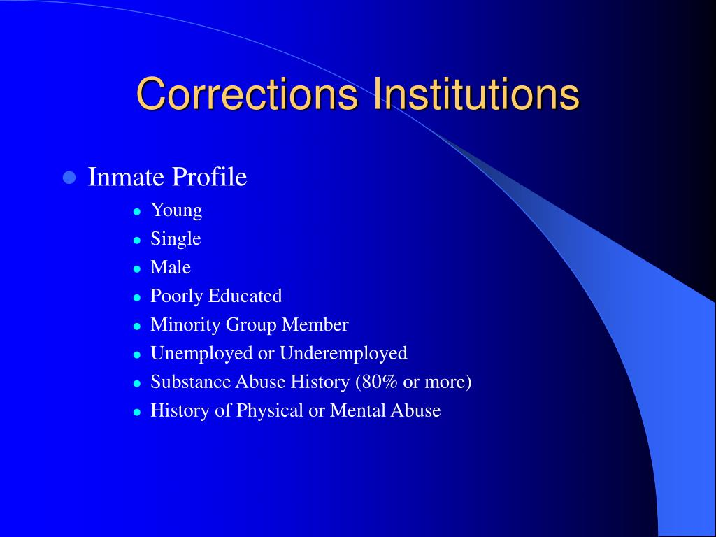 corrections history and institutions