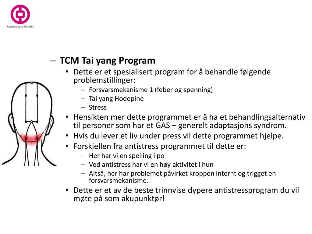TCM Tai yang Program