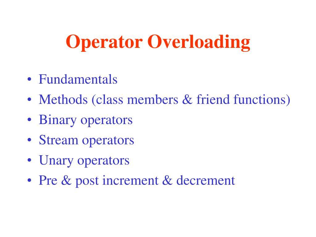 operator overloading l.