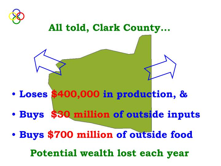 All told, Clark County...