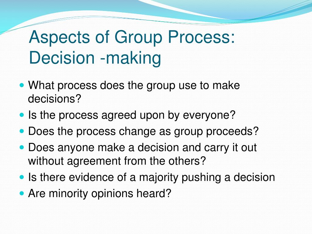 Aspects of Group Process: