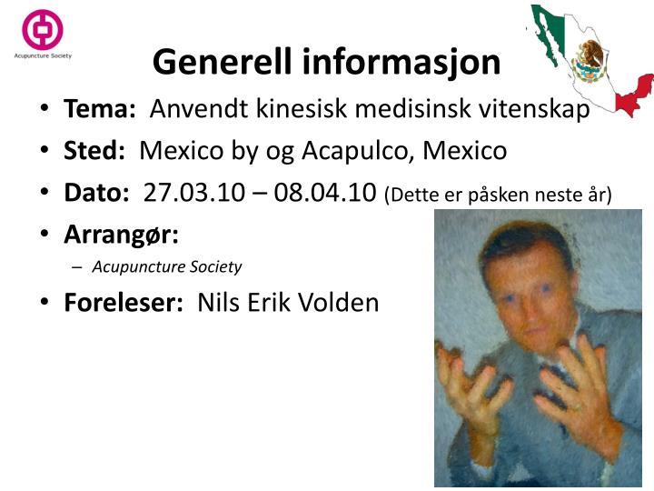 Generell informasjon