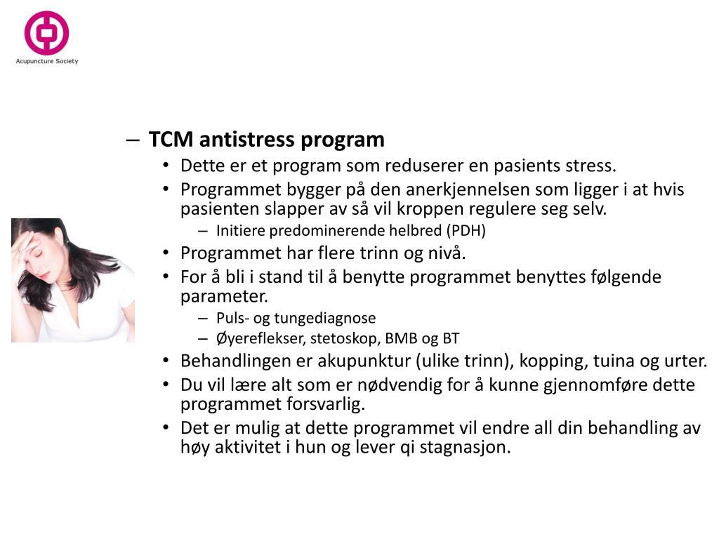 TCM antistress program