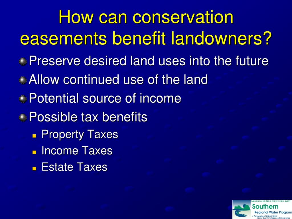 How can conservation easements benefit landowners?