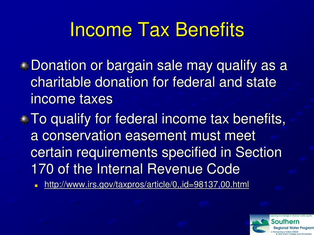 Income Tax Benefits