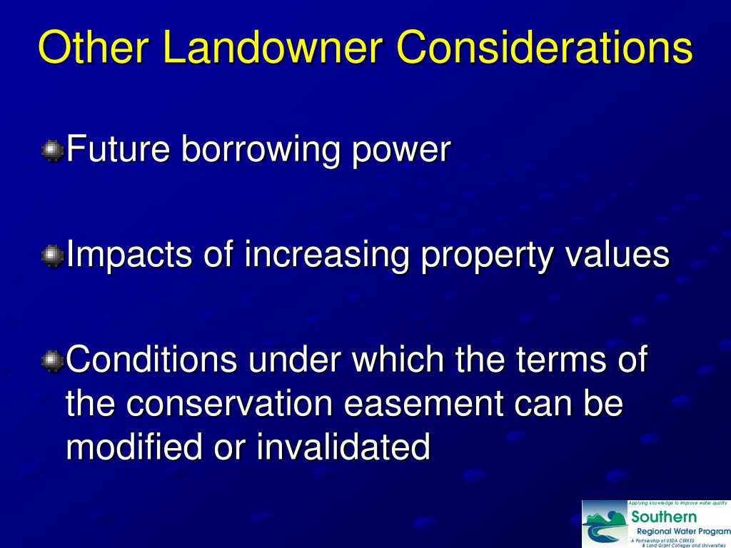 Other Landowner Considerations