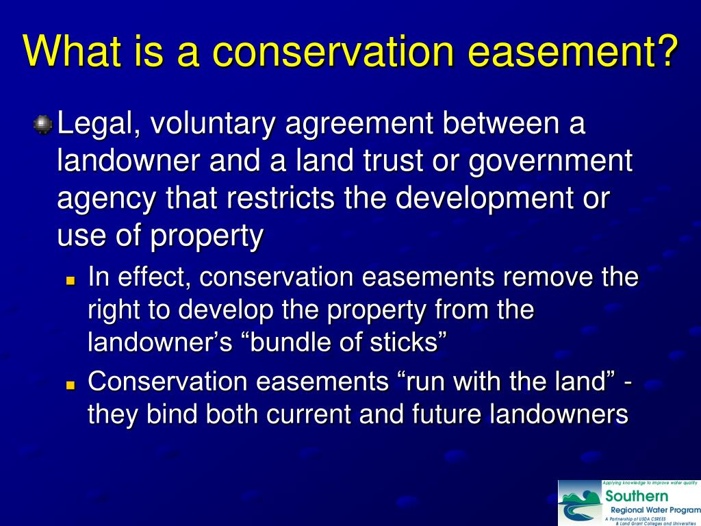 What is a conservation easement?