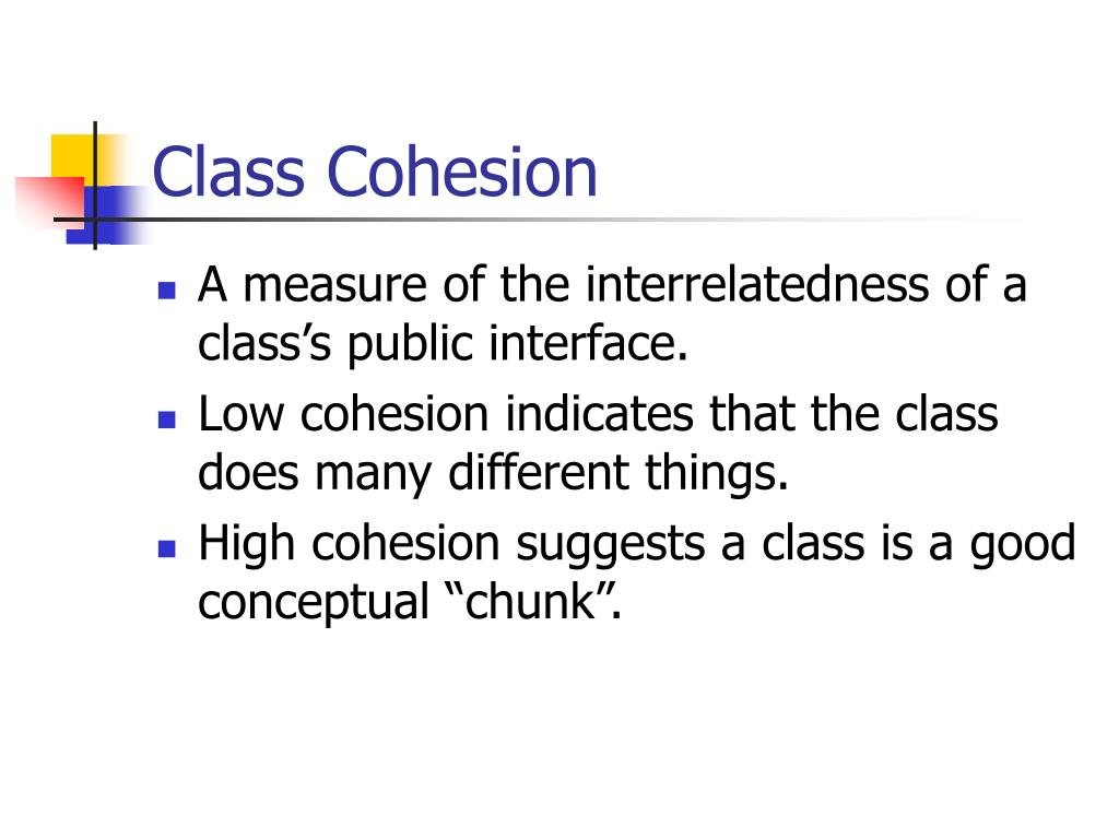 Class Cohesion